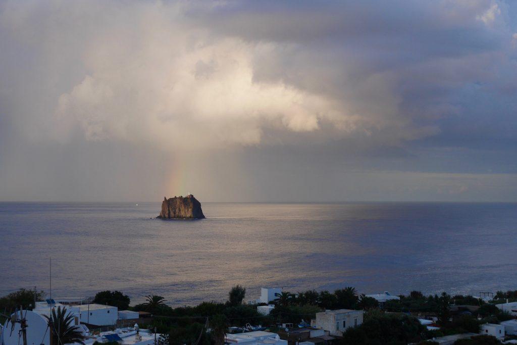 Ocean view from Stromboli