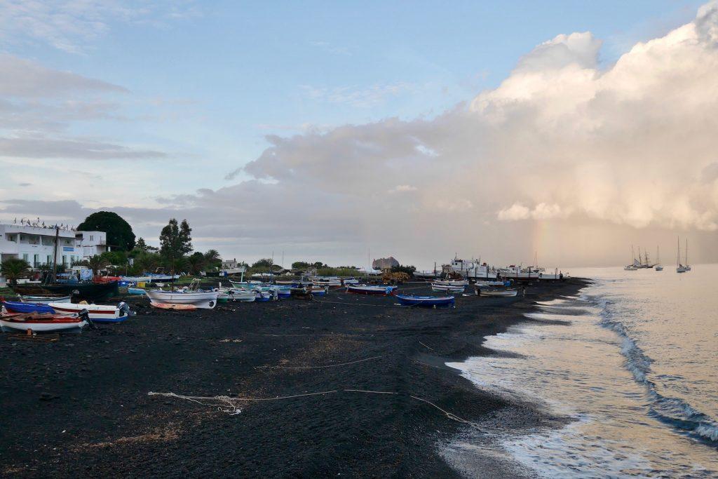 Black beach of Stromboli island